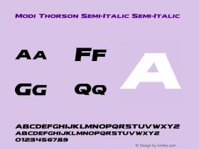 Modi Thorson Semi-Italic