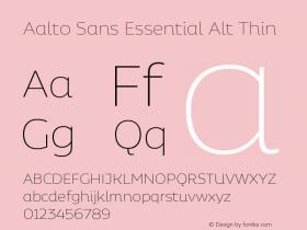 Aalto Sans Essential Alt