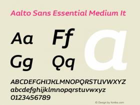 Aalto Sans Essential