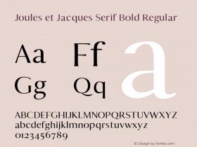 Joules et Jacques Serif Bold
