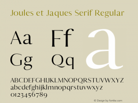 Joules et Jaques Serif
