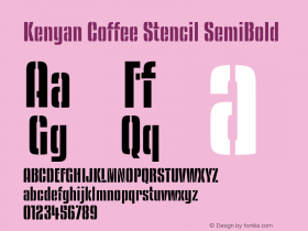 Kenyan Coffee Stencil
