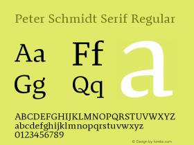 Peter Schmidt Serif