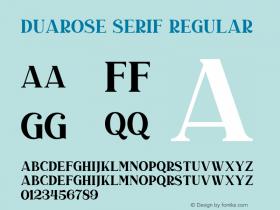 Duarose Serif