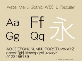 Iwata Maru Gothic W55 L