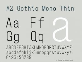 A2 Gothic Mono