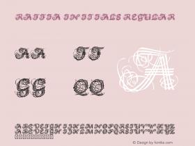 Raffia Initials