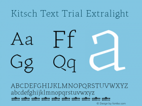 Kitsch Text Trial