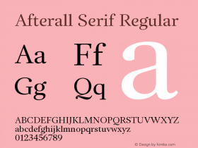 Afterall Serif
