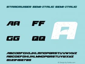 Starcruiser Semi-Italic