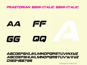 Praetorian Semi-Italic