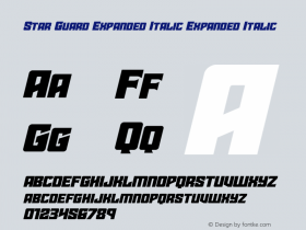 Star Guard Expanded Italic