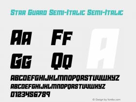 Star Guard Semi-Italic