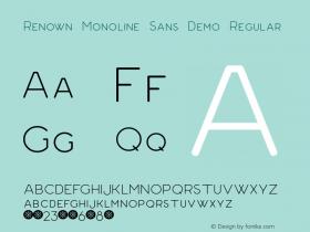 Renown Monoline Sans Demo