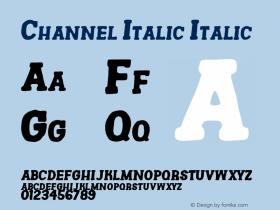 Channel Italic
