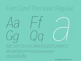 Fort Cond Thin Italic