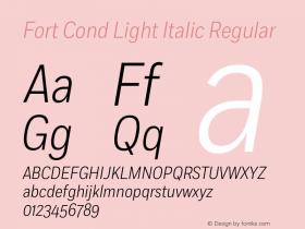 Fort Cond Light Italic