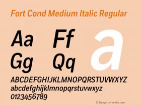 Fort Cond Medium Italic