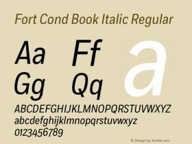 Fort Cond Book Italic