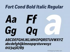 Fort Cond Bold Italic