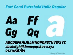 Fort Cond Extrabold Italic