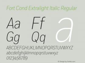 Fort Cond Extralight Italic