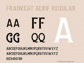 Frankest Serif