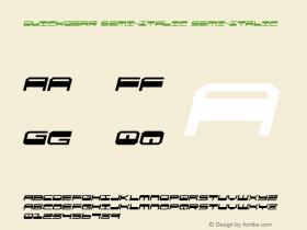 QuickGear Semi-Italic