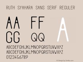 Ruth Syahara Sans Serif