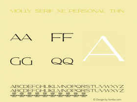 Molly Serif XE PERSONAL