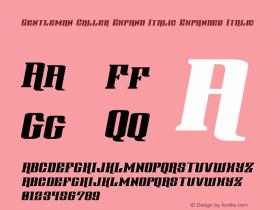 Gentleman Caller Expand Italic