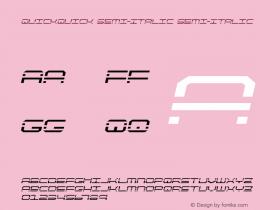 QuickQuick Semi-Italic