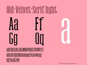 Old-Velvet-Serif