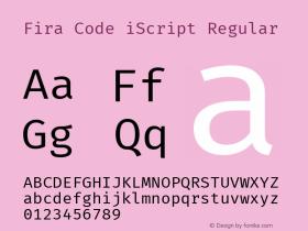 Fira Code iScript