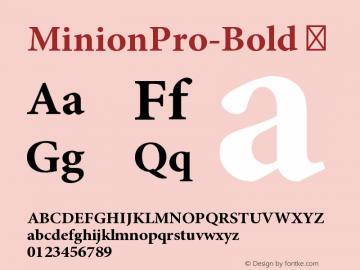 MinionPro-Bold