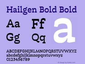 Hailgen Bold