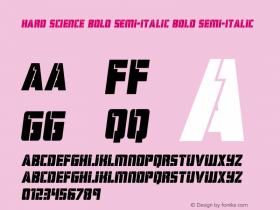 Hard Science Bold Semi-Italic