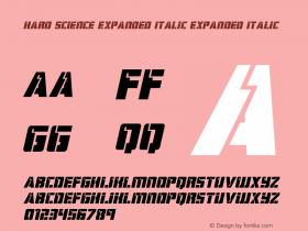Hard Science Expanded Italic