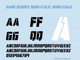 Hard Science Semi-Italic