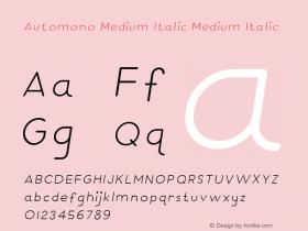 Automono Medium Italic