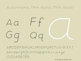 Automono Thin Italic