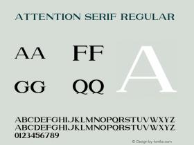 Attention Serif