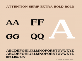 Attention Serif Extra Bold