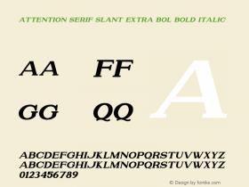 Attention Serif Slant Extra Bol
