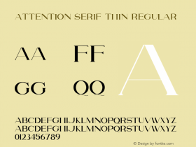 Attention Serif Thin