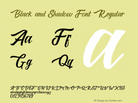 Black and Shadow Font