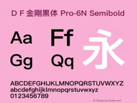 DF金剛黒体 Pro-6N