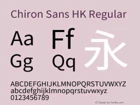 Chiron Sans HK
