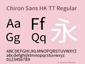 Chiron Sans HK TT