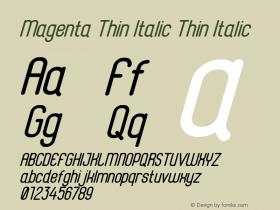 Magenta Thin Italic